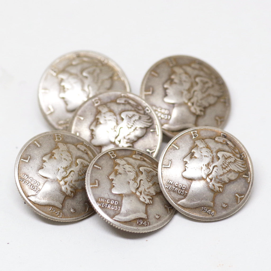 Liberty Dime Button Set