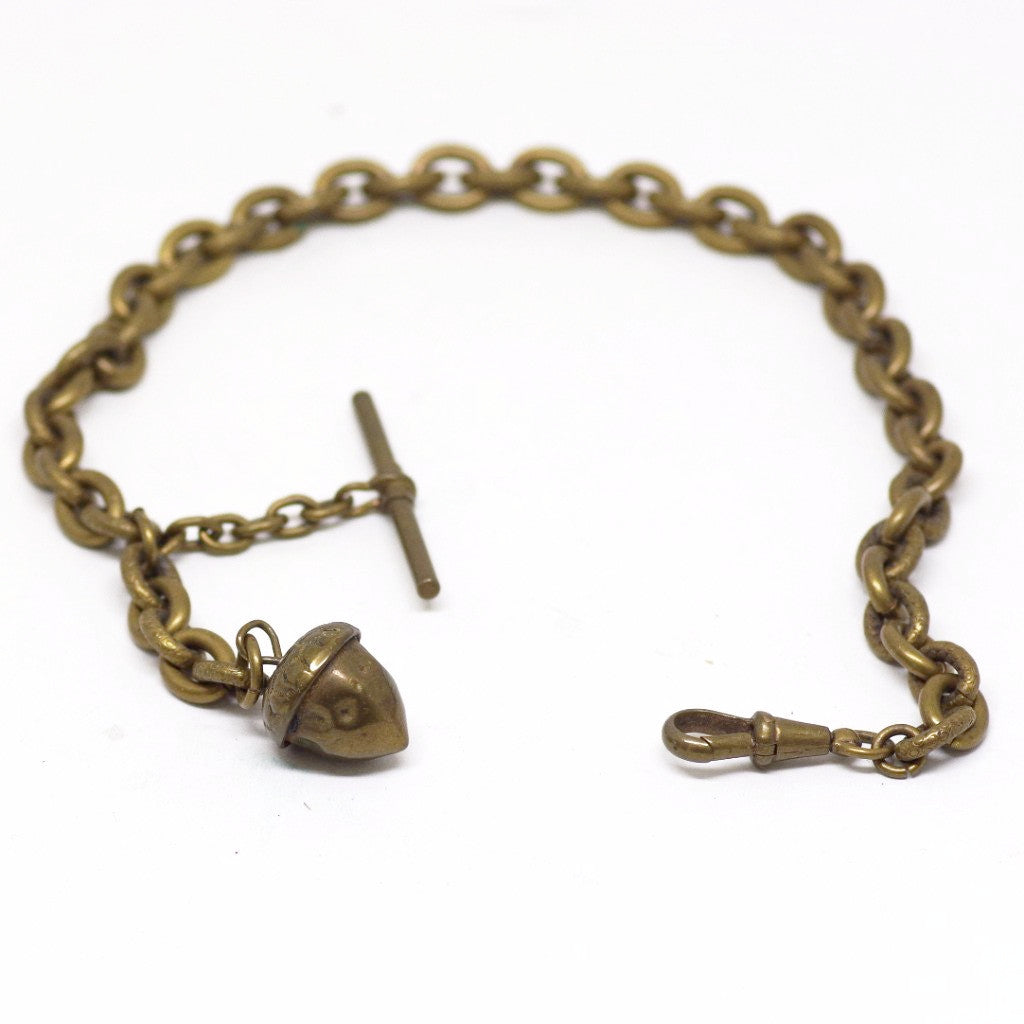 Victorian Acorn Watch Chain & Fob