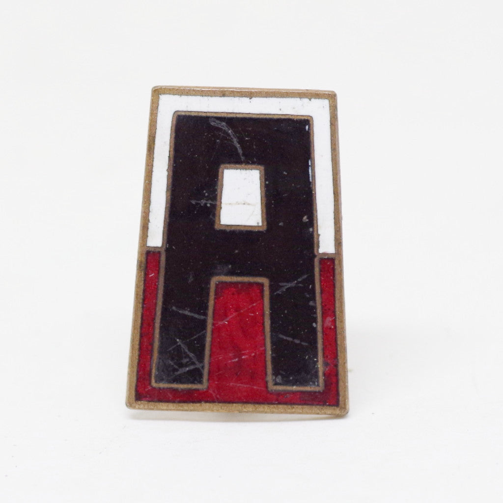 "Red, White, and Black ""A"" Enamel Pin"