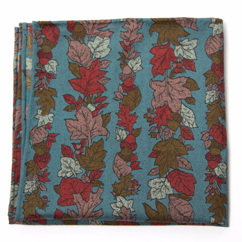 Marvelous Autumn Leaves Cotton Pocket Square by Put This On