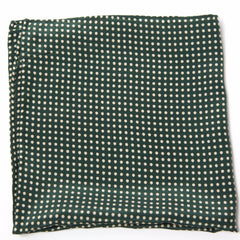 Delightful Green Polka Dot Silk Pocket Square by Put This On