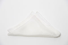 Gorgeous White Silk Pocket Square by Put This On