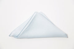 Classic Pale Blue Irish Linen Pocket Square by Put This On