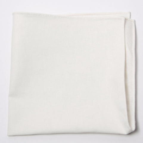 Classic White Irish Linen Pocket Square by Put This On