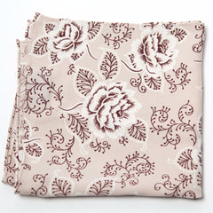 Delightful Brown and White Floral Rayon Pocket Square by Put This On