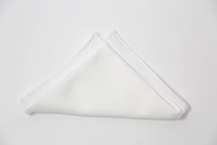 Bright White Textured Cotton Pocket Square by Put This On