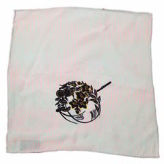 Pale Blue and Pink Antique Japanese Silk Pocket Square by Put This On