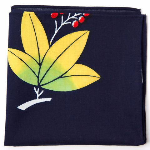 Beautiful Leaf and Berries Cotton Pocket Square by Put This On