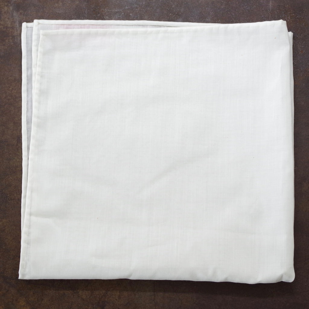 Delicate White Cotton Pocket Square by Put This On