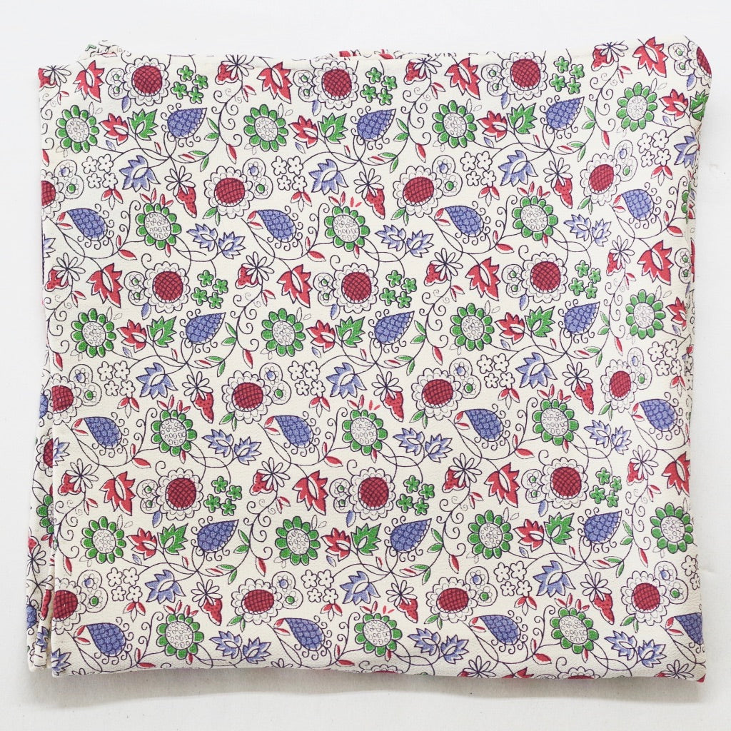 Ecru Floral Vine Rayon Pocket Square by Put This On