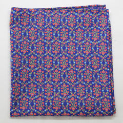 Latticed Floral Print Cotton Pocket Square by Put This On