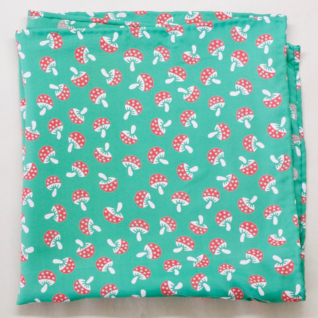 Green Mushroom Rayon Pocket Square by Put This On