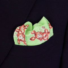 Fun Rabbit Seersucker Pocket Square by Put This On