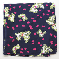 Poodle Print Rayon Pocket Square by Put This On