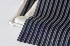 Striped Indigo Japanese Boro & Silk Scarf