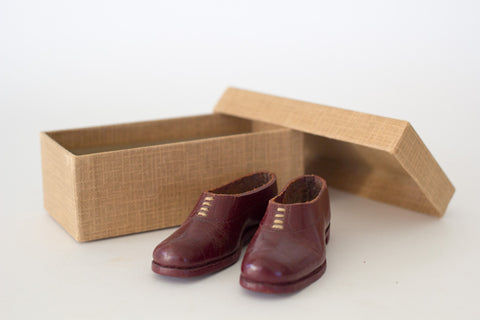 Pair of Miniature Burgundy Shoes
