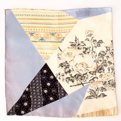 Eclectic Multi-Floral-Pattern Silk Pocket Square by Put This On