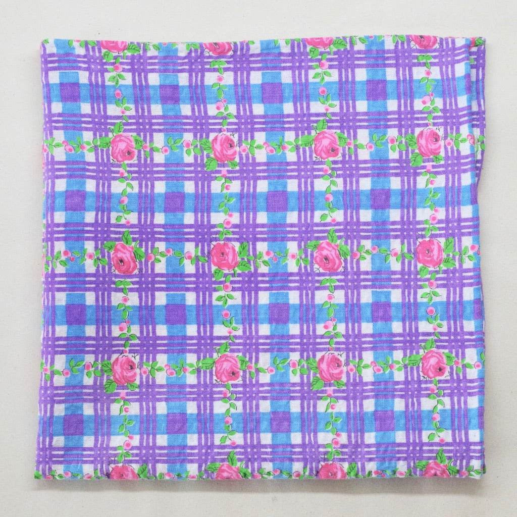 Floral Gingham Seersucker Pocket Square by Put This On