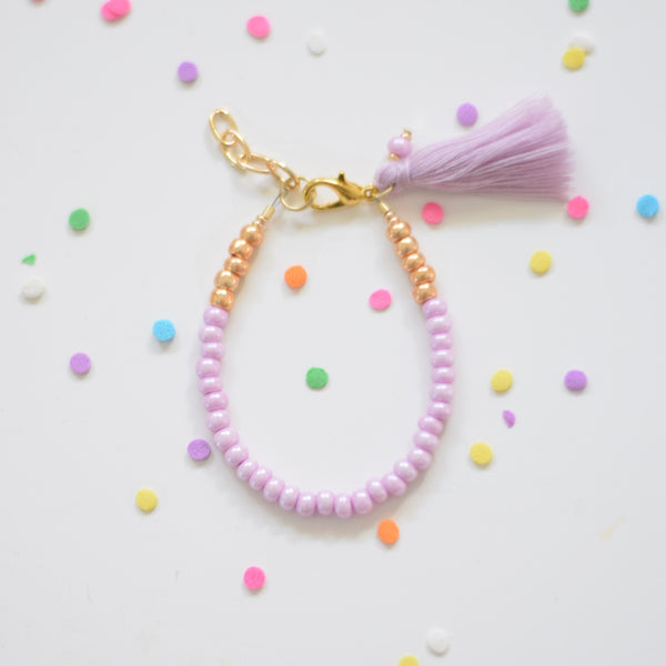 Wild Berry Tassel Stackable Bracelet Collaboration with Gemma + Filo