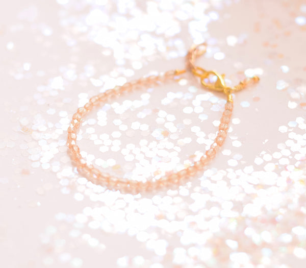 Tiny Champagne Faceted Bracelet