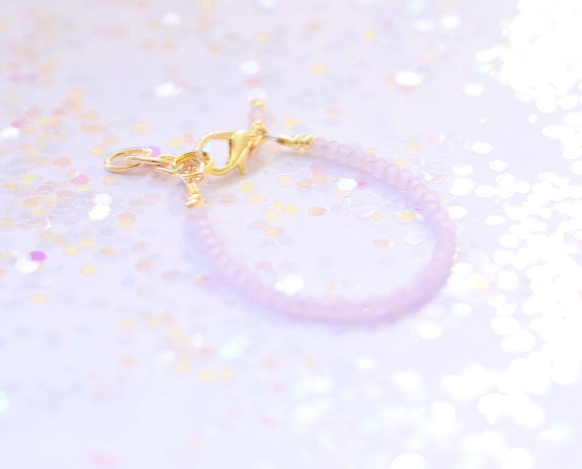 Tiny Blush Faceted Bracelet