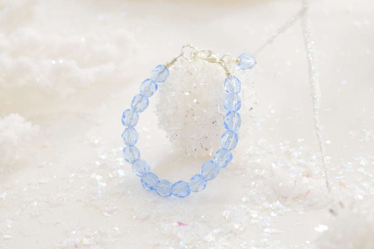 Frosty Faceted Bracelet