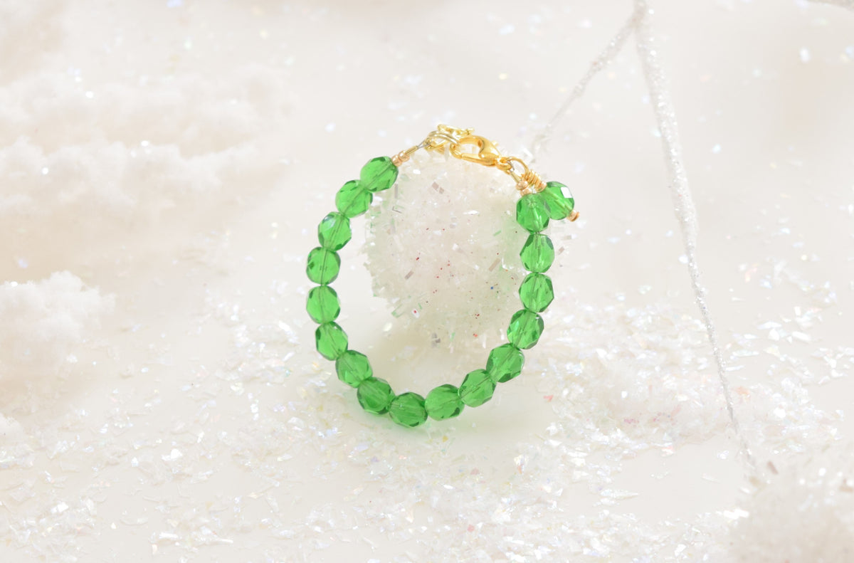 Mistletoe Faceted Bracelet