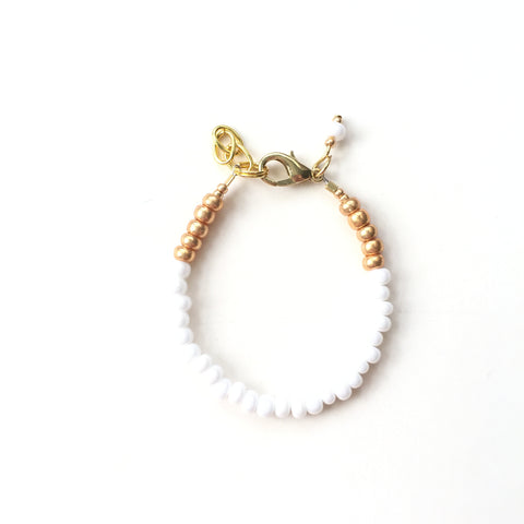 White Stackable Bracelet