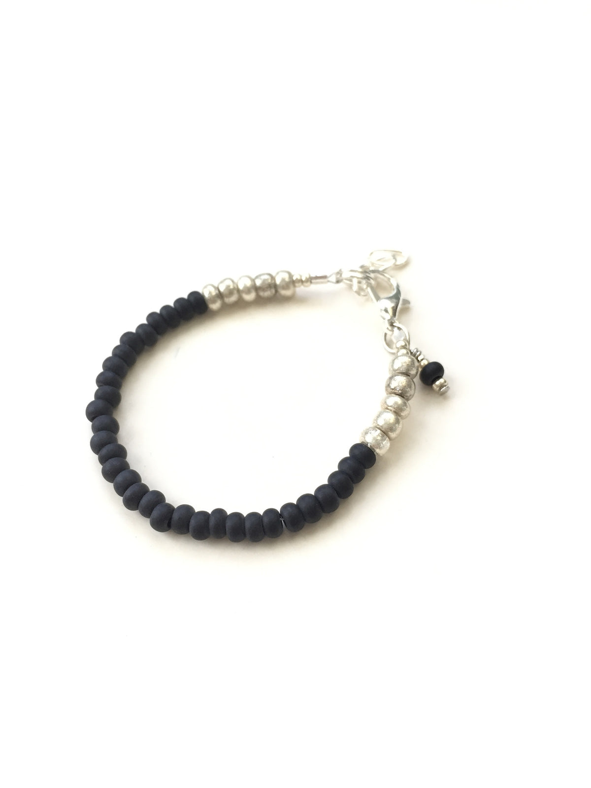 Matte Black Stackable Bracelet
