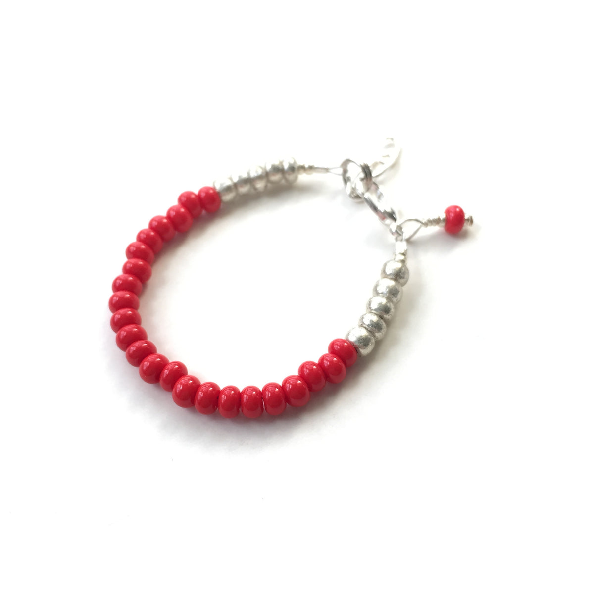Bright Red Stackable Bracelet