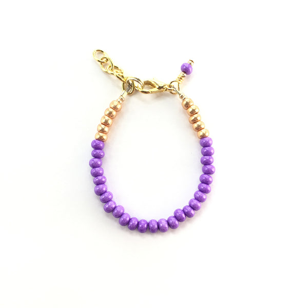Electric Grape Stackable Bracelet