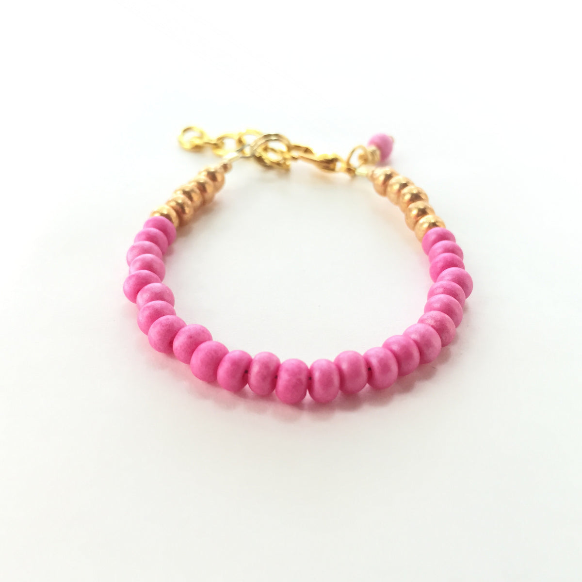 Pink Punch Stackable Bracelet