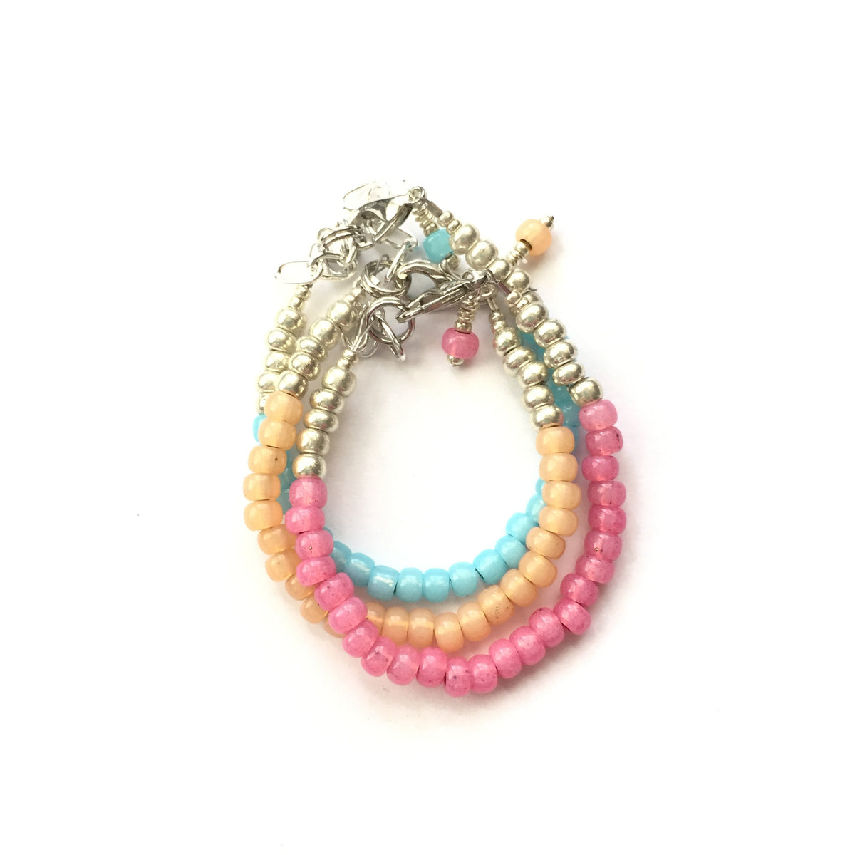 Bubble Gum Stackable Bracelet