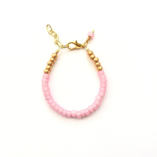 Flamingo Pink Stackable Bracelet