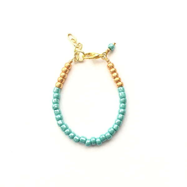 Mermaid Teal Stackable Bracelet