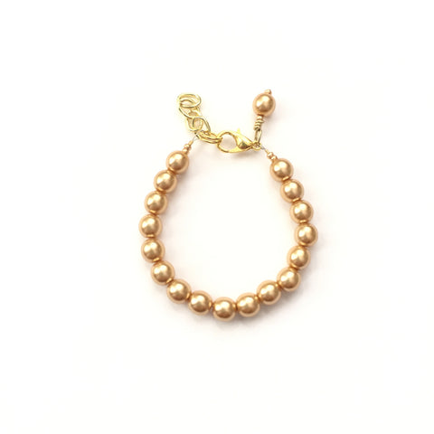 Classic Gold Glass Pearl Bracelet