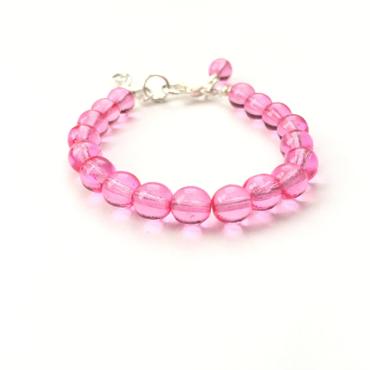 Classic Pink Glass Pearl Bracelet
