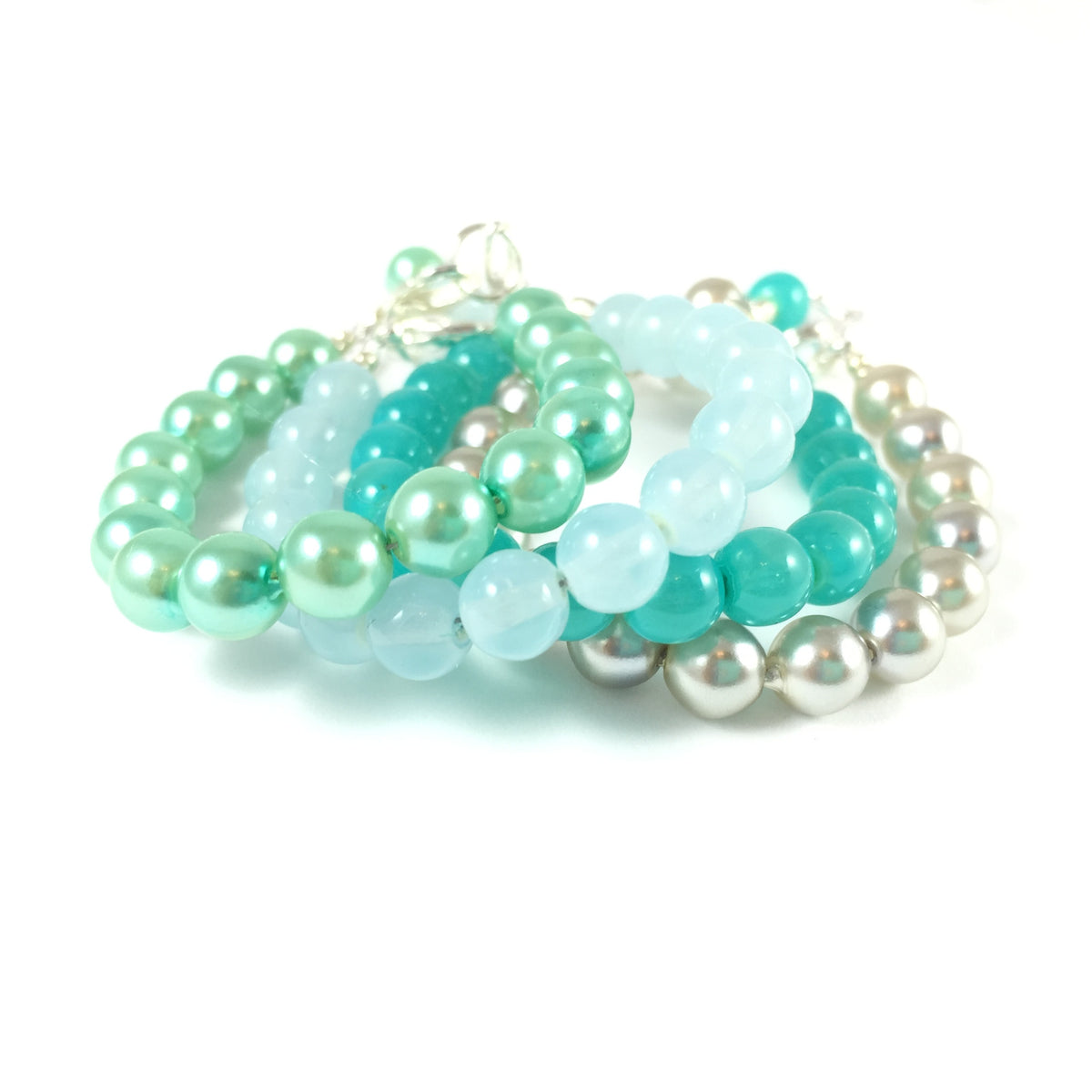 Classic Sea Surf Glass Pearl Bracelet