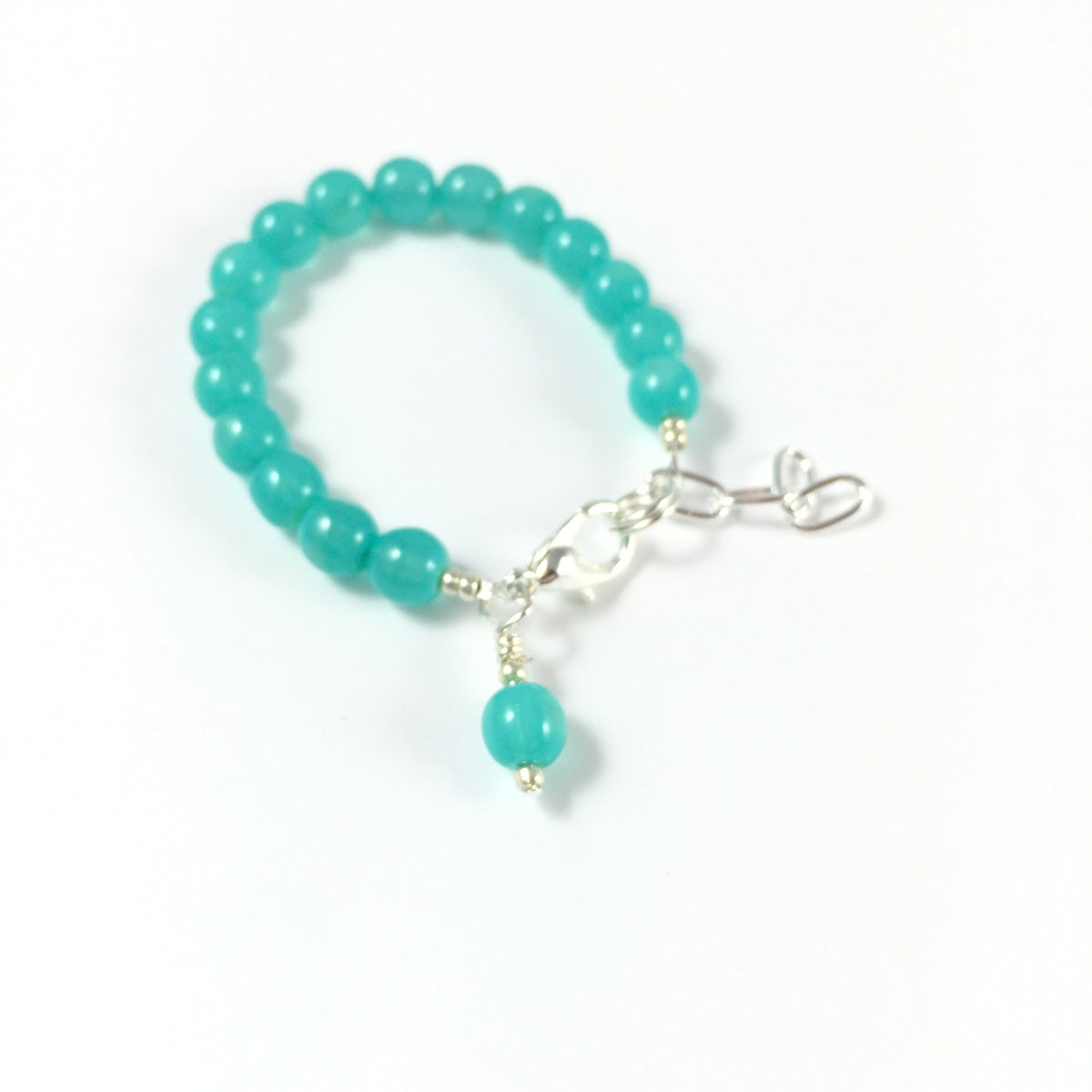 Classic Teal Glass Pearl Bracelet