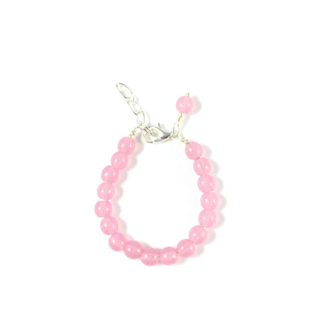 Classic Pretty in Pink Glass Pearl Bracelet
