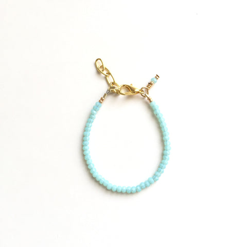 Blue Mint Sparkle Faceted Bracelet