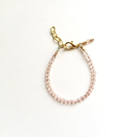 Sweet Blush Sparkle Faceted Bracelet