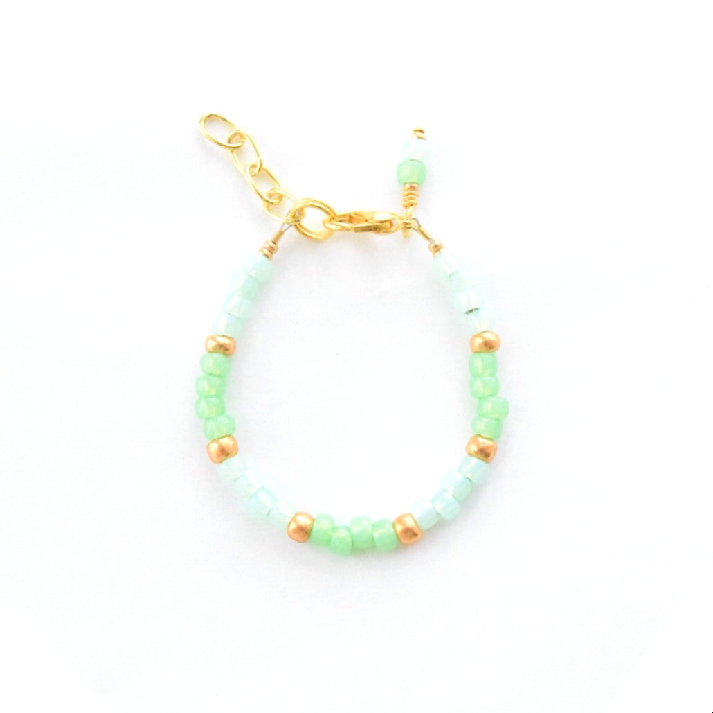 For the Love of Mint Stackable Bracelet