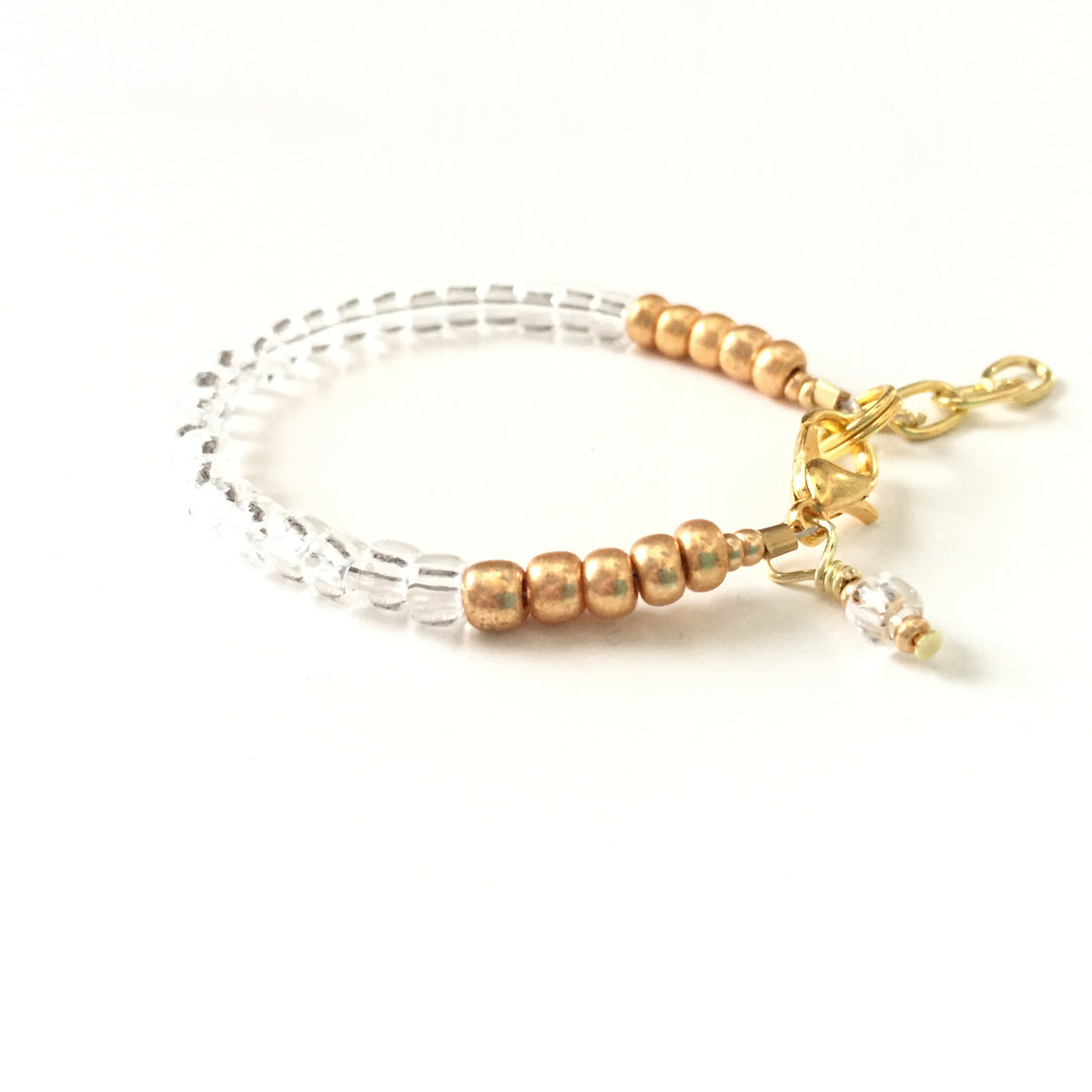 April Birthstone Diamond Colored Stackable Bracelet