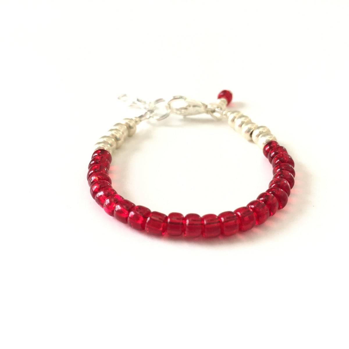 July Birthstone Ruby Colored Stackable Bracelet