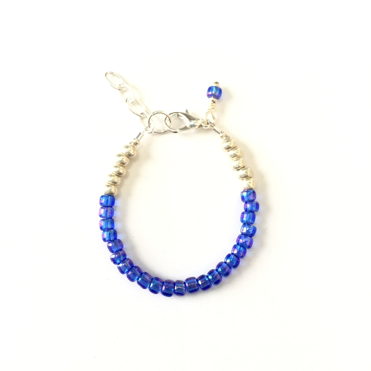 September Birthstone Sapphire Colored Stackable Bracelet