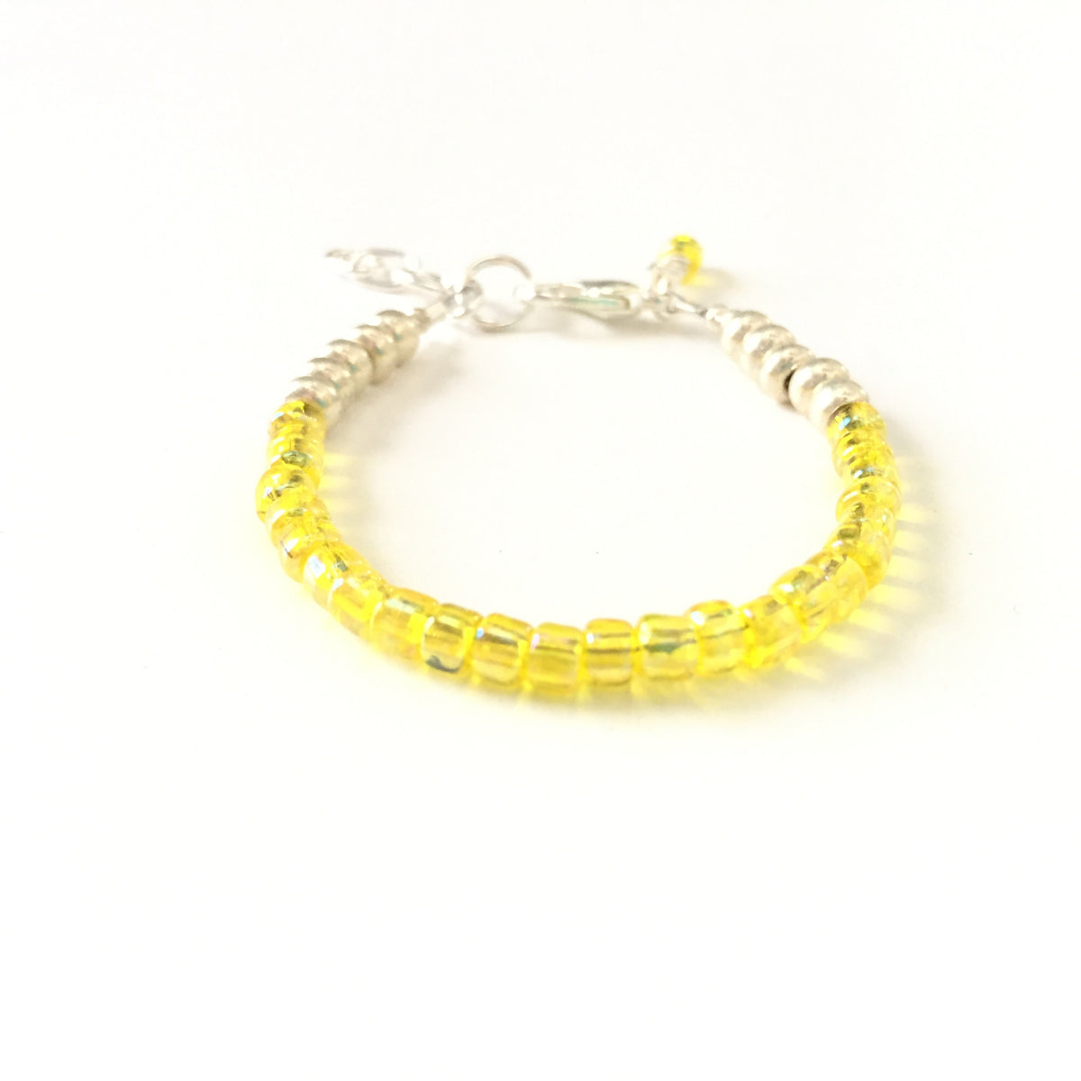 November Birthstone Citrine Colored Stackable Bracelet