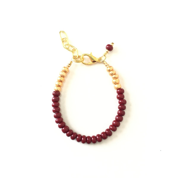 Burgundy Stackable Bracelet