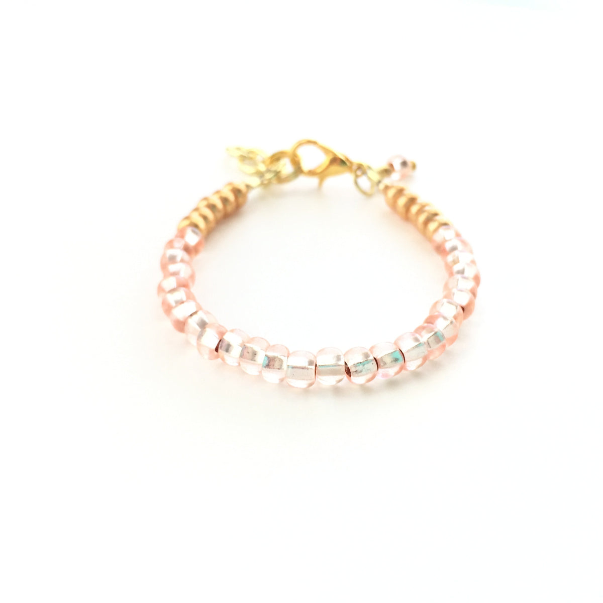 Sparkling Peach Stackable Bracelet