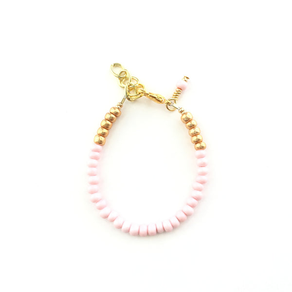 Pastel Pink Stackable Bracelet